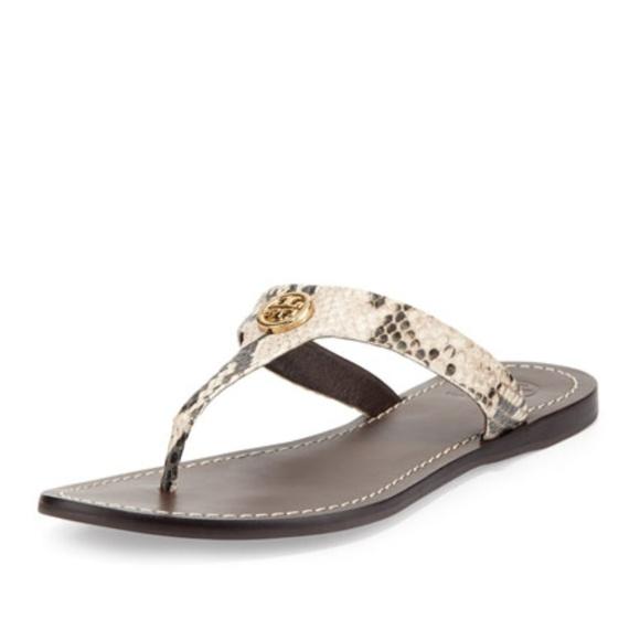 41a11d7306f4 Cameron Patent Logo Thong Sandal Snake Skin. M 5b0df6315521bee27ec13f0b
